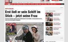 Schettino, secondo la Bild avrebbe una love story con una giornalista Rai