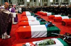 I funerali delle 19 vittime di Nassiriya