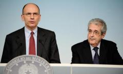 Premier Letta e ministro Saccomanni