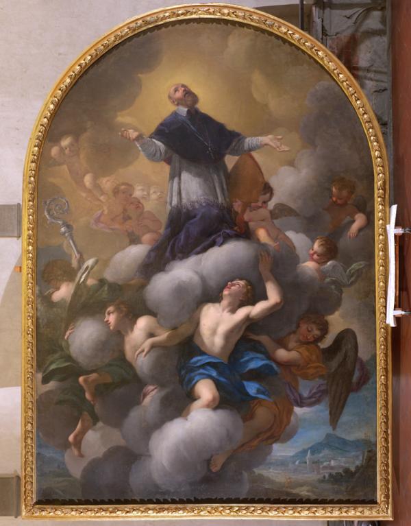 La pala di Gabbiani, ultima opera restaurata dopo l'alluvione del '66 a Santi Apostoli