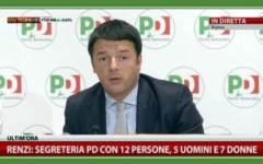 La nuova segreteria Pd di Renzi, 7 donne e 5 uomini
