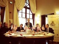 La commissione che ha assegnato i nove premi Amerigo 2013