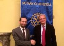 L'Imam Izzedin Elzir e Alfredo Coltelli presidente del Rotary Fiesole