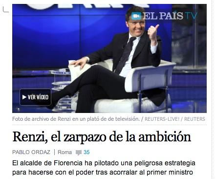 Il commento di El Pais alla crisi di governo in Italia