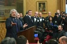 Beppe Grillo dopo l'incontro con Matteo Renzi