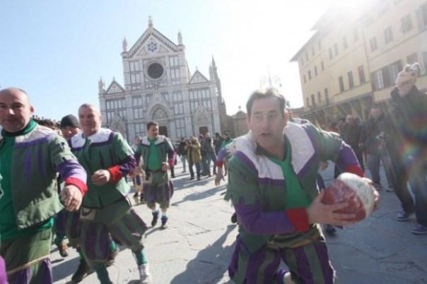 Le Vecchie glorie del calcio storico fiorentino