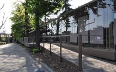 Il padiglione esterno di Pitti Immagine in attesa di essere abbattuto