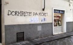 Movida: scritta minacciosa sui muri in S.Ambrogio