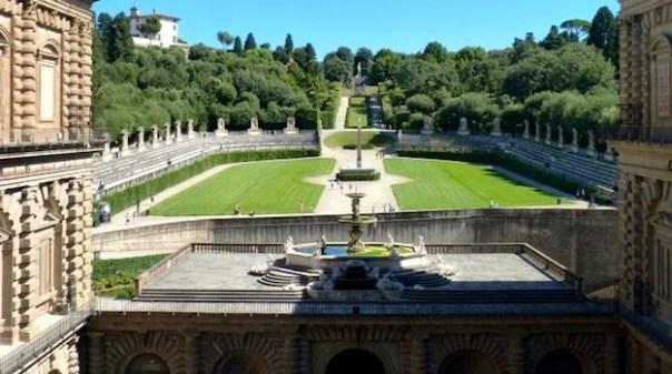 I giardini di Boboli visti da Palazzo Pitti