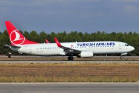 Un Boeing 737 della Turkish Airlines