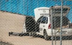 L'intervento della polizia presso lo stadio di Manaus