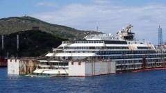 Il relitto della Costa Concordia