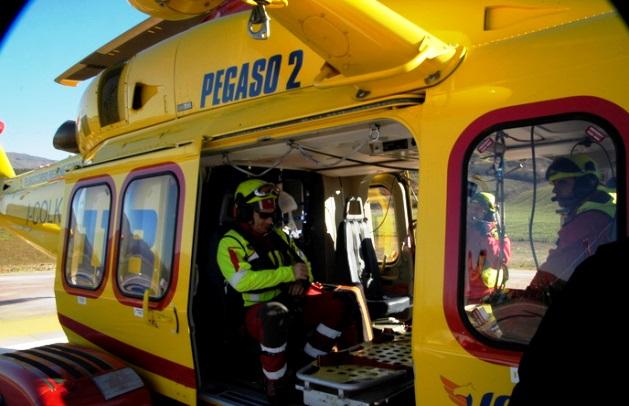 L'elicottero Pegaso della Regione Toscana