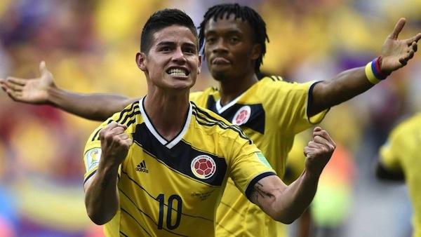James Rodriguez e Juan Cuadrado