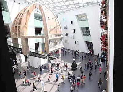 La cupola del Brunelleschi all'interno del padiglione italiano alla Expo di Shanghai