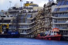 Il relitto della nave Concordia
