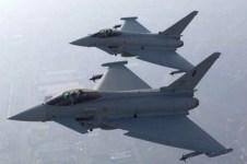 Due caccia Eurofighter dell'Aeronautica Militare