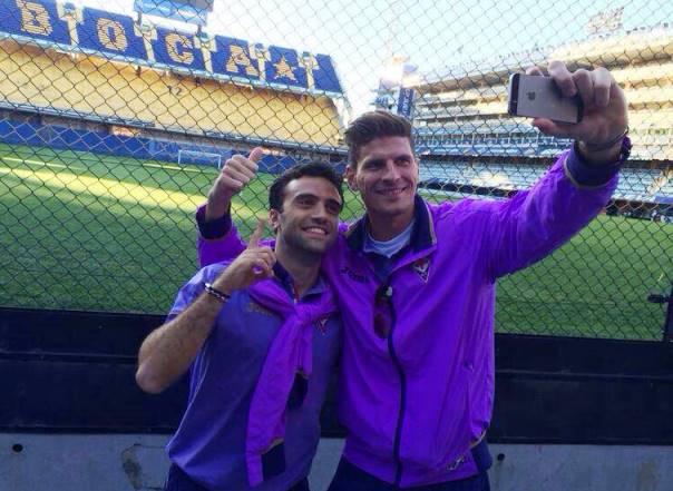 Mario Gomez e Pepito Rossi (foto dal Facebook di Gomez)