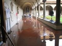 Il chiostro del museo di san Marco dopo il nubifragio