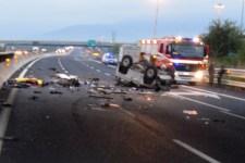 La tragica scena dell'incidente
