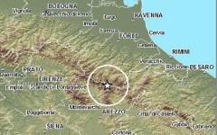 Scosse di terremoto dalla mezzanotte tra Forlì e Arezzo