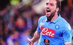 Calcio: Higuain (Napoli) squalificato per 4 giornate. Un turno di stop a Sarri, Koulibaly e Mertens