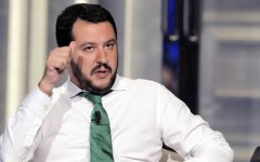 Firenze: Matteo Salvini, segretario della lega Nord, visita la rassegna «Firenze libro aperto»