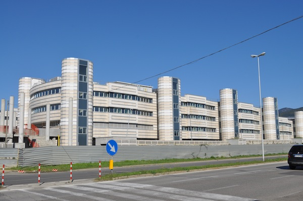 La nuova Scuola Marescialli e Brigadieri dei Carabinieri in corso di costruzione a Castello
