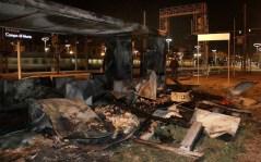 L'Incendio della baracca nei pressi della stazione di Firenze Campo Marte