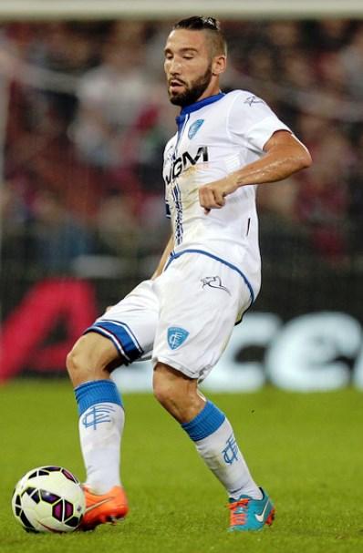 Lorenzo Tonelli, difensore dell'Empoli, autore del gol decisivo alla Lazio