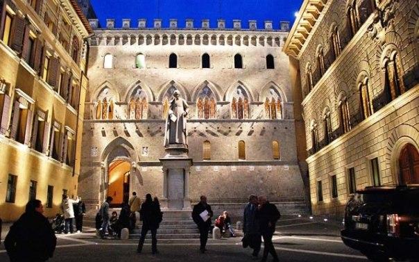 Siena, la sede del Montepaschi a Rocca Salimbeni