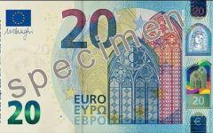 BCE, Francoforte: ecco il nuovo biglietto da 20 euro