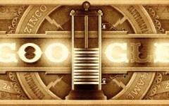 Google dedica ad Alessandro Volta il doodle di oggi 18 febbraio