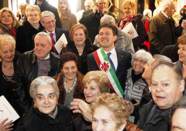 San Valentino, festa delle nozze d'oro in Palazzo Vecchio