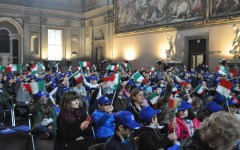 «Il Tricolore e Firenze Capitale»: gran festa a Palazzo Vecchio. Nomi e foto dei vincitori del concorso del Rotary