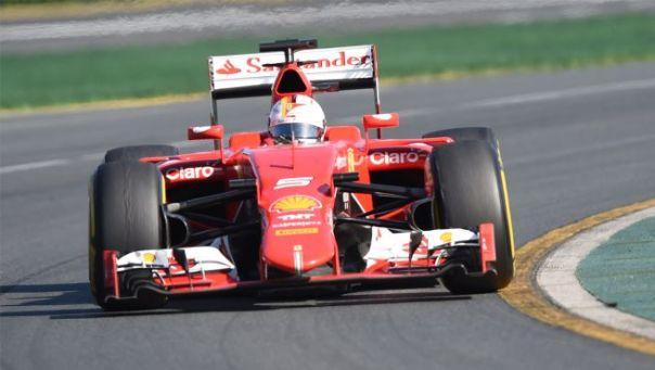 La Ferrari di Sebastian Wettel