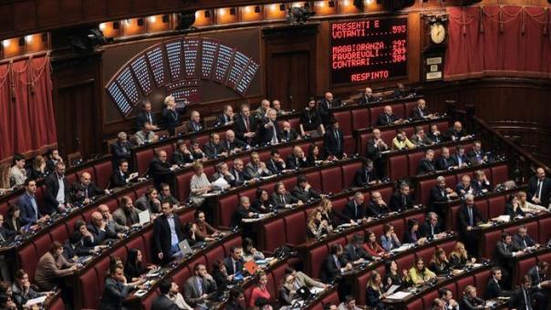 il voto nell'aula di Montecitorio