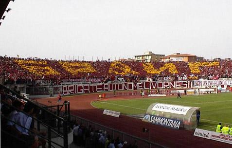 Lo stadio di Livorno