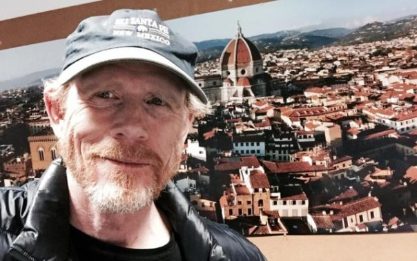 Il regista Ron Howard e Firenze (foto da suo account Twitter)