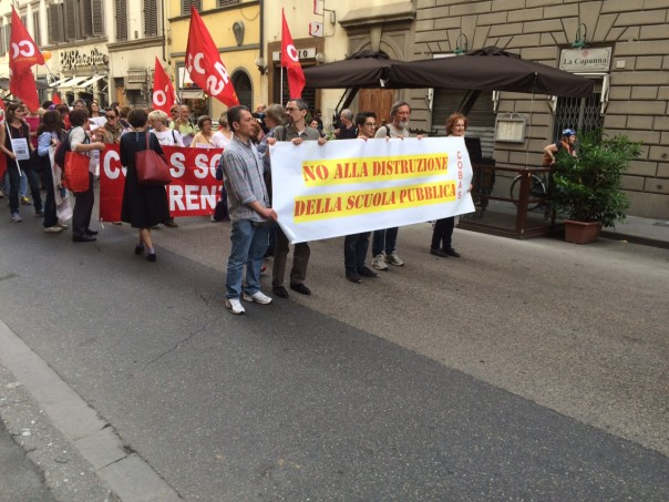Corteo a Firenze