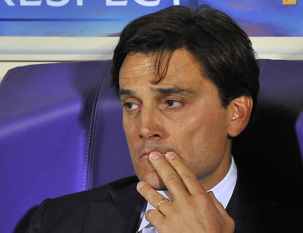 L'allenatore della Fiorentina, Vincenzo Montella (Foto Giacomo Morini)