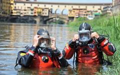 Firenze, Arno: ordigno inesploso della guerra ritrovato nel fiume