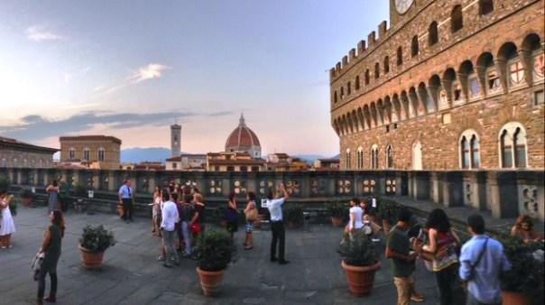 Uffizi, aperitivo sul tetto