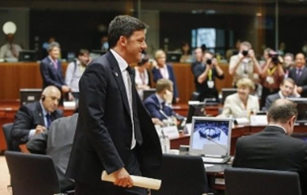 Renzi a un vertice europeo