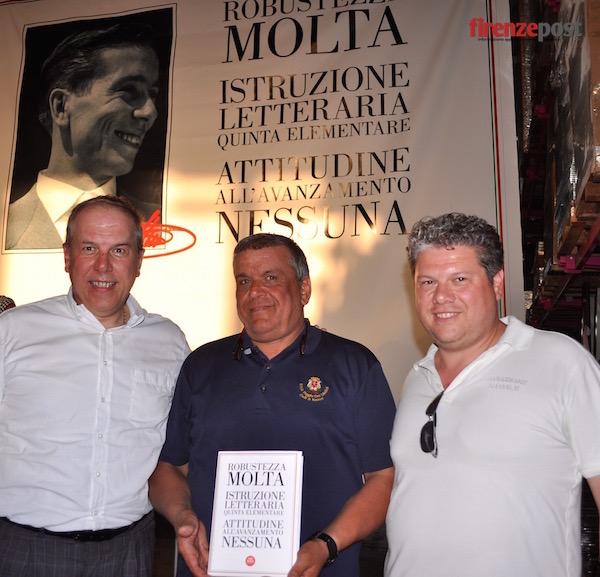 da sinistra Silvano Simone, Stefano e Sandro Bettini della Rosss di Scarperia