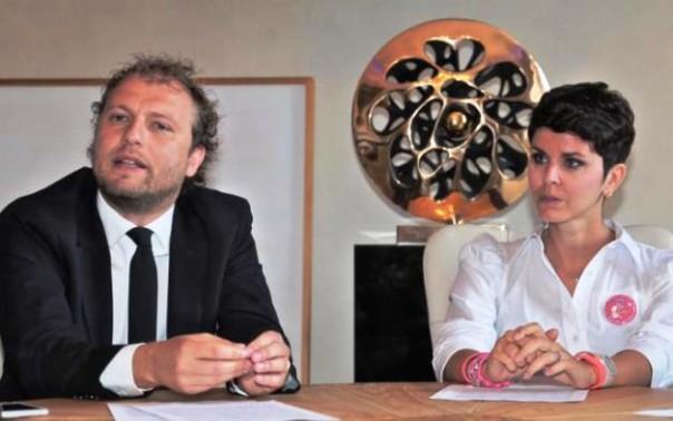 Il sottosegretario Luca Lotti con Carlotta Filardi