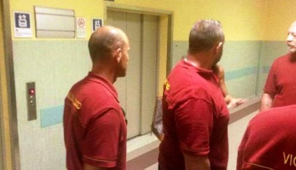Ospedale di Cisanello, l'intervento dei vigili del fuoco