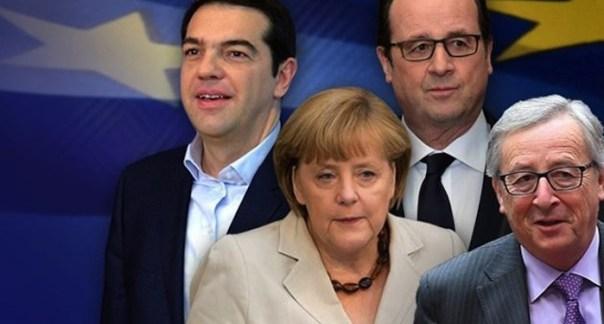 Tsipras-Merkel-Hollande-Juncker