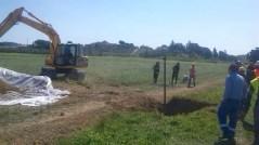 In corso l'intervento di riparazione dell'oleodotto nella zona di Empoli
