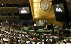 Il Papa all'Onu: chiede rispetto della vita, rinuncia agli armamenti nucleari, miglior governo dell'economia mondiale